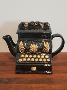 Antique Black Cash Register Till Collectors Teapot Unusual