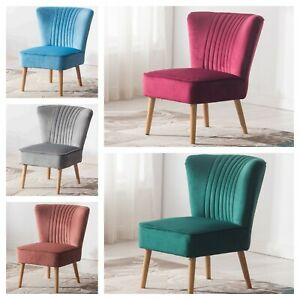 Diego Shell Scallop Crushed Velvet Accent Chair Comfort Dining Furniture