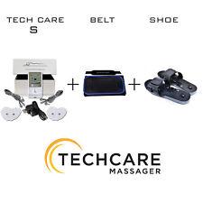 TechCare S Tens Massager Unit Set + Reflexology Shoes + Belt Pain Relief Therapy
