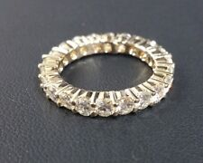 2.5CT Brilliant Cut Moissanite 14K Yellow Gold Eternity Band Charles and Colvard