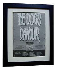 DOGS D'AMOUR+Errol Flynn+POSTER+AD+ORIGINAL+1989+QUALITY FRAMED+FAST GLOBAL SHIP