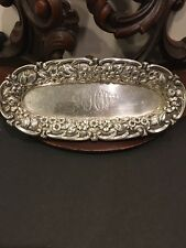 S. Kirk And Son Sterling Repousse Trinket Tray