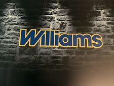 Enseigne Plaque Décorative Garage auto RENAULT WILLIAMS ( 70 cm x 15 cm)