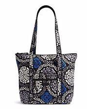 VERA BRADLEY Villager CANTERBERRY COBALT Tote Shoulder Bag Purse $68 REAL LINING