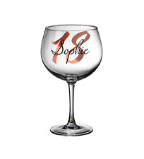 Personalised Gin Glass Age Name Birthday Gift