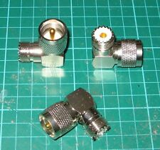 ONE TOP QUALITY PL259  UHF TO SO239 RIGHT ANGLE ADAPTOR