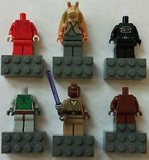 LEGO® Star Wars™ 6 Magnete & Magnet-Figuren (Mace Windu  Jar Jar Binks) Neuware