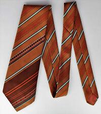 Prova kipper tie vintage 1970s brown polyester striped pattern Made in Britain
