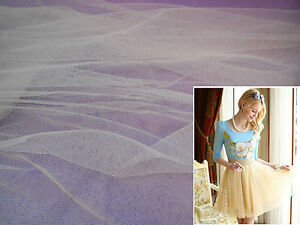 Ivory Soft Tulle Fabric for Dress making DIY 160cm wide.Sold per 0.5 Meter