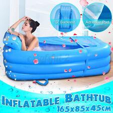 PVC Inflatable Bathtub Adult Foldable Portable Spa Massage Warm Air Bath Tub