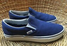 VANS Classic Slip-On Women's Men's Blue Canvas Skate Shoes UK 6 EU 39 NEW