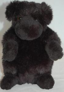 """Melissa & Doug Black Basket Puppies Dog Furry Replacement Toy Lovey 8"""""""