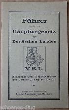 (Wander-)Führer durch das Hauptwegenetz des Bergischen Landes, 1922