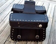 Black Throw Over Extra Large Saddlebags w/Flames for Harley CLEARANCE was $249