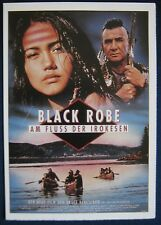 Filmplakatkarte cinema   Black Robe - Am Fluss der Irokesen  L.Bluteau , A.Young