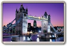 FRIDGE MAGNET - TOWER BRIDGE - Large Jumbo - UK England London (Purple)