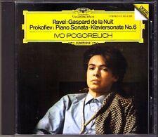 Ivo POGORELICH: PROKOFIEV Piano Sonata No.6 RAVEL Gaspard de la Nuit DG CD 1983