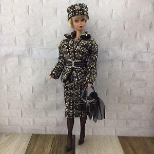 HANDMADE Brown 10 Pcs Dress Set FOR Barbie Vintage,Silkstone & Reproduction Doll