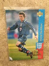 1997 Upper Deck England Soccer Card - DAVID BECKHAM  TRUE REAL ROOKIE Mint