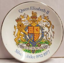 Wood & Sons Pride of Britain QEII Silver Jubilee Pin Dish c1977 Made In England