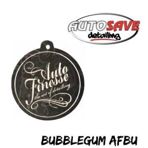 Auto Finesse Bubblegum Black Paper Hanging Car Interior Air Freshener