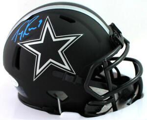 Tony Romo Signed Dallas Cowboys Eclipse Speed Mini Helmet- Beckett W Auth *Blue