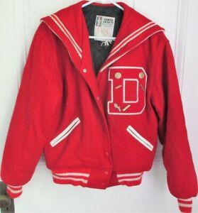 Varsity/Letterman Vintage Jacket: Women's Volleyball, 'Kelly' w/Pins, 'D' Letter