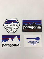4 Patagonia Stickers Live Simply Spork Patagonia Hex Logo Patagonia Logo Outdoor
