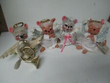 4 Annalee Christmas Angel Mice Mouse Figures