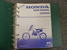 1984 Honda Model CR80R Dirt Bike Motorcycle Shop Service Repair Manual Book