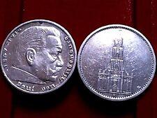 A  2 x 5 Reichsmark Silber, 1 x Garnisionskirche, 1 x Hindenburg 1934 bis 1937