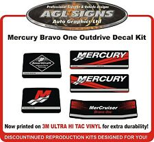 Mercury Bravo One Outdrive 5 piece Replacement Decal Kit   Mercruiser