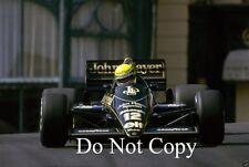 Ayrton Senna Lotus 98T Monaco Grand Prix 1986 Photograph 3