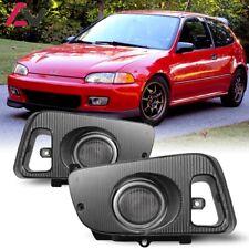For Honda Civic 92-95 Clear Lens Pair Bumper Fog Light Lamp+Wiring+Switch Kit