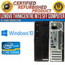 Lenovo ThinkCentre M73 SFF Intel i3 4GB RAM 250GB HDD Win 10 USB B Grade Desktop
