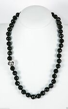 Simon Sebbag Sterling Silver Faceted Black Onyx Beads Necklace NB100/FBO24