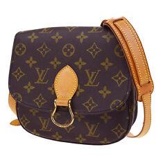 Auth LOUIS VUITTON Saint Cloud MM Shoulder Bag Monogram Brown M51243 65Q999