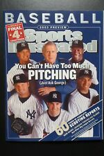 Sports Illustrated 2003 Baseball Preview Magazine Jeter Yankees