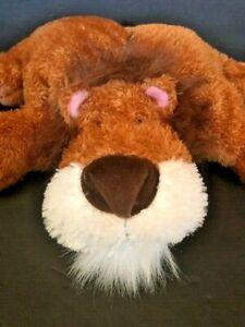 Russ Brown Soft Cuddly Plush Lion Pillow Leli Stuffed Animal