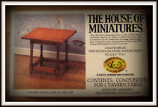 DOLL HOUSE OF MINIATURES COLONIAL TAVERN TABLE TABLE, CHARMING ANTIQUE REPLICA