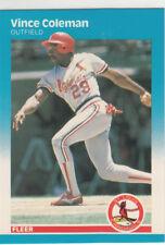 VINCE COLEMAN 1987 FLEER GLOSSY #290 ST. LOUIS CARDINALS