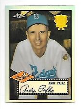 ANDY PAFKO BROOKLYN DODGERS 2002 TOPPS CHROME RERFRACTOR 1952 REPRINT #52R-4