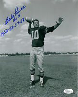 PACKERS Babe Parilli signed 8x10 photo w/ 1952-53-57-58 JSA COA AUTO Autograph