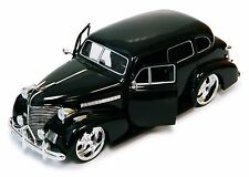 Jada 90224CB-1 1939 Chevy Master Deluxe 1/24 Scale Diecast Model Black