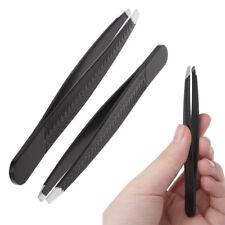 Stainless Steel Eyebrow Tweezer Slant Tip Hair Removal Makeup Tool Professional