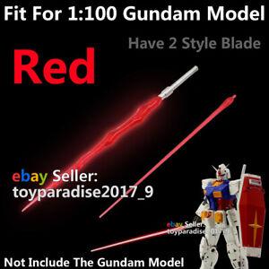 Gundam Led Beam Saber Lightsaber Sword Blade Fit 1/100 MG RE Gundam Model Red