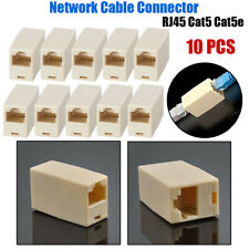 10Pc Rj45 Network Ethernet Cable Coupler Joiner Connector Adapter Plug Cat5 5E