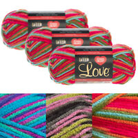 3pk Red Heart With Love 100% Acrylic Yarn Knitting Crochet Medium #4 Skeins Soft