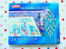 Derwent Watercolour Pencils x 24 sealed in tin