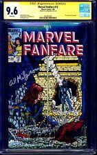 Marvel Fanfare #12 CGC SS 9.6 signed Al Milgrom 1st Iron Maiden BLACK WIDOW